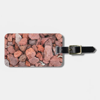 Red Volcanic Rocks Ground Cover Luggage Tag