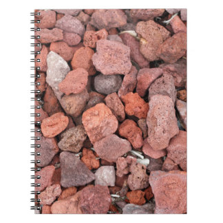 Red Volcanic Rocks Ground Cover Notebook