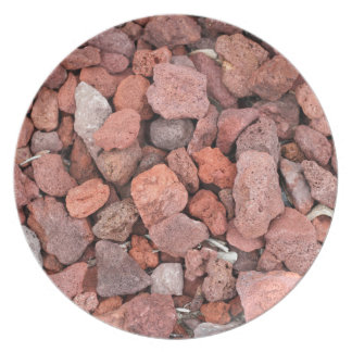 Red Volcanic Rocks Ground Cover Party Plate