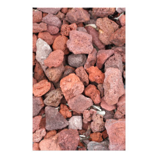 Red Volcanic Rocks Ground Cover Stationery