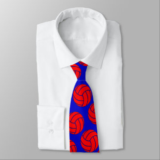 Red Volleyball + Any Team Color Coach or Player Tie
