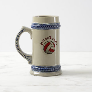 Red Volleyball Beer Stein