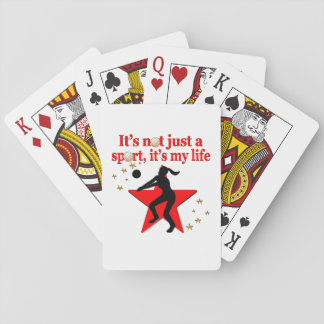 RED VOLLEYBALL IS MY LIFE DESIGN PLAYING CARDS