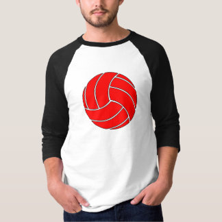 Red Volleyball Men's 3/4 Sleeve Shirt