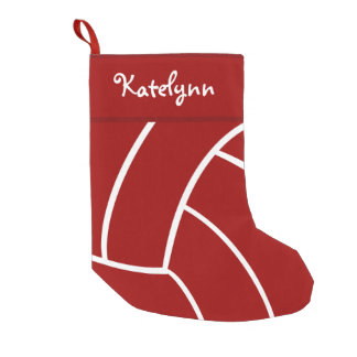Red Volleyball Personalized Christmas Stocking