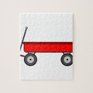 Red Wagon Drawing Jigsaw Puzzle
