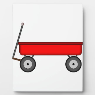 Red Wagon Drawing Plaque