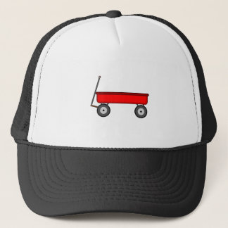 Red Wagon Drawing Trucker Hat