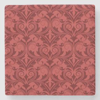 Red Wallpaper Stone Coaster