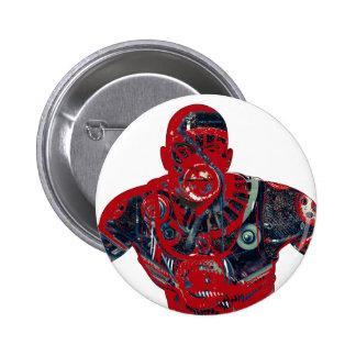 Red warrior 2 inch round button