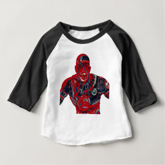 Red warrior baby T-Shirt