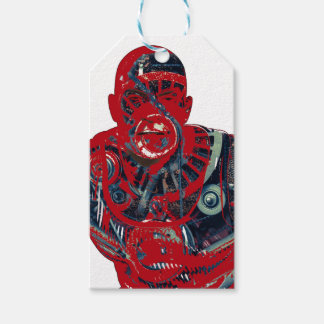 Red warrior pack of gift tags