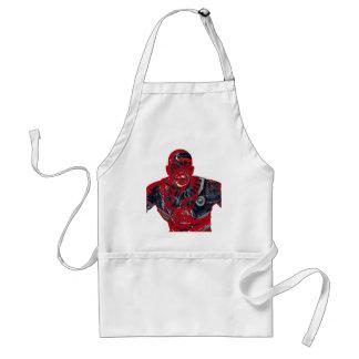 Red warrior standard apron