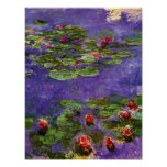 Red Water Lilies by Claude Monet Print