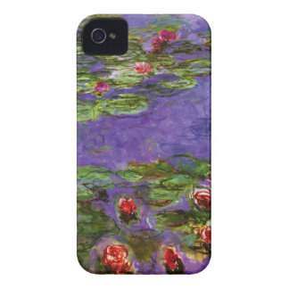 Red Water Lilies Claude Monet Fine Art iPhone 4 Case