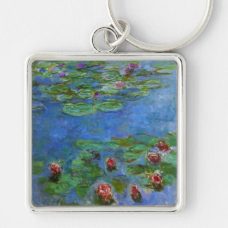 Red Water Lilies, Claude Monet Keychain