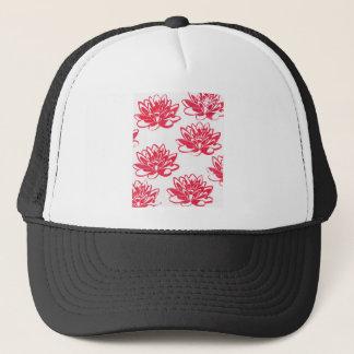 Red water lilies trucker hat