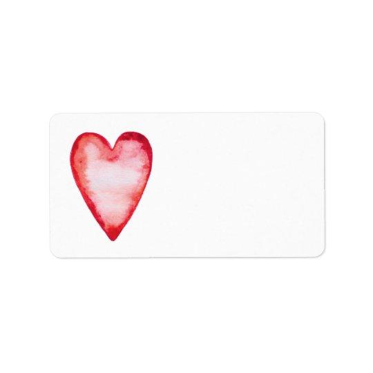 Red watercolor heart blank custom