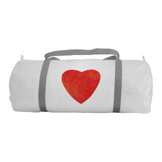Red Watercolor Heart Gym Bag