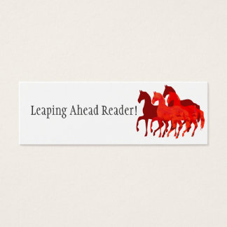 Red Watercolor Horses | Reading Reward Mini Business Card