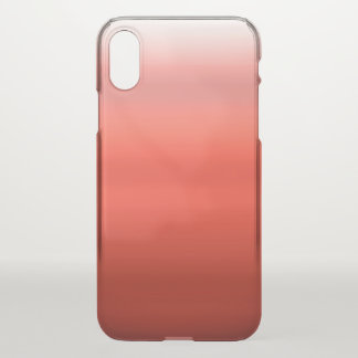 Red Watercolor Ombre iPhone X Case