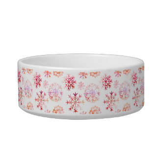 Red Watercolor Snowflakes Bowl