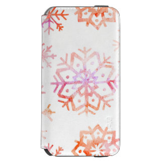 Red Watercolor Snowflakes Incipio Watson™ iPhone 6 Wallet Case