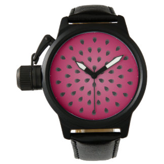 Red watermelon chunk with seeds watches