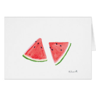 Red Watermelons fruit painting Card