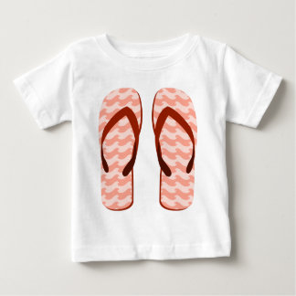Red Waves Flip Flops Baby T-Shirt