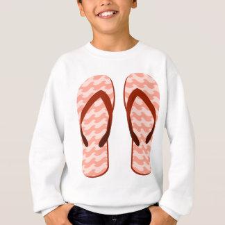 Red Waves Flip Flops Sweatshirt