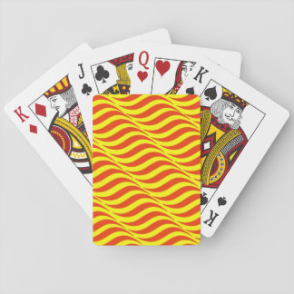 Red Waves Yellow Sky Playing Cards