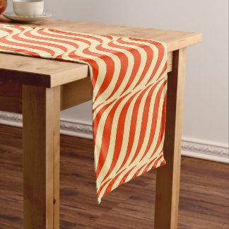 Red Waves Yellow Sky Short Table Runner
