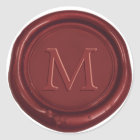 Red Wax Monogram Classic Wedding Favour Red Seal