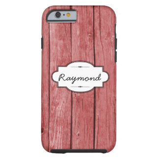 Red Weathered Wood iPhone 6 Tough Case