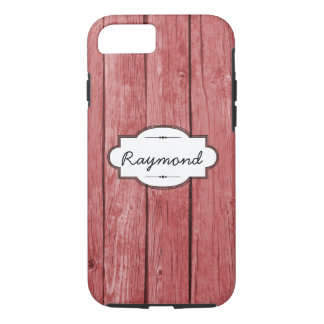 Red Weathered Wood iPhone 7 Tough Case