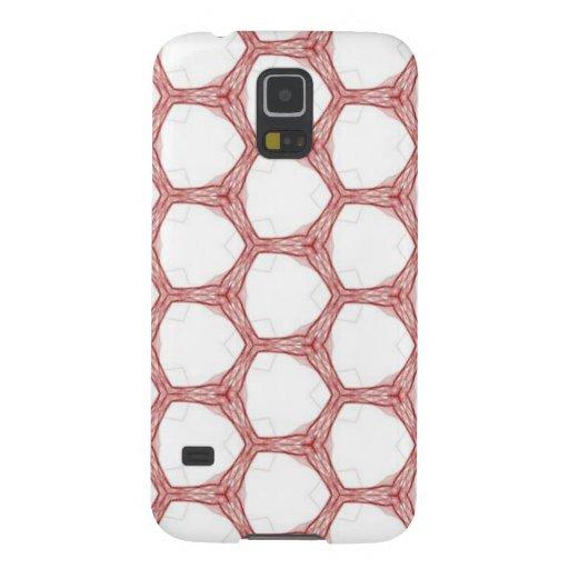 Red Web Snake Skin Pattern Design Samsung Galaxy Nexus Cases