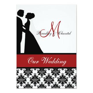 Red Wedding Couple Wedding Invitation