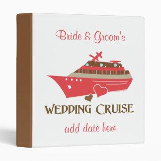 Red Wedding Cruise Album 3 Ring Binder