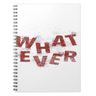 Red Whatever PNG Notebooks