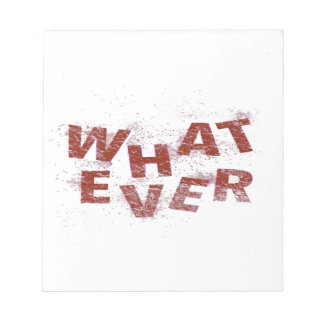 Red Whatever PNG Notepad