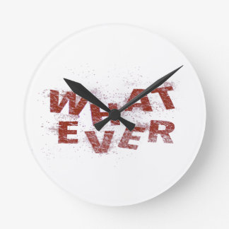 Red Whatever PNG Round Clock