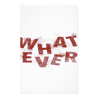 Red Whatever PNG Stationery