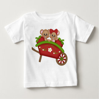 Red Wheelbarrow Strawberry Boy Girl Mice Childrens Baby T-Shirt
