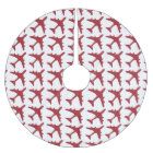 Red white airplane pattern tree skirt