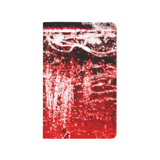 Red, White, and Black Artistic Blank Book