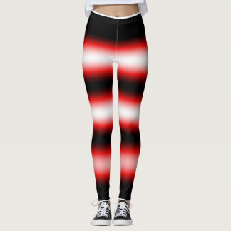 red white and black baby leggings