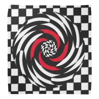 Red, White and Black Checker Vortex Bandana