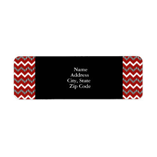 Red, White and Black Chevron Pattern