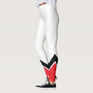 Red White and Black Leggings